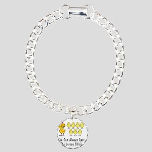 jersey chick2 Charm Bracelet, One Charm