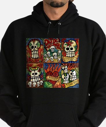Day of the Dead Sugar Skulls Hoodie (dark)
