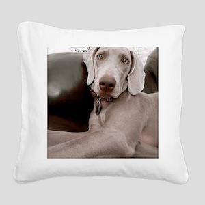 Sandy Square Canvas Pillow