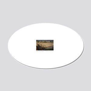 23x35-Santa-Monica-Pier 20x12 Oval Wall Decal