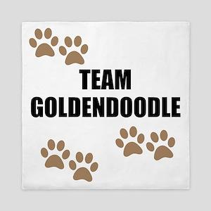 Team Goldendoodle Queen Duvet