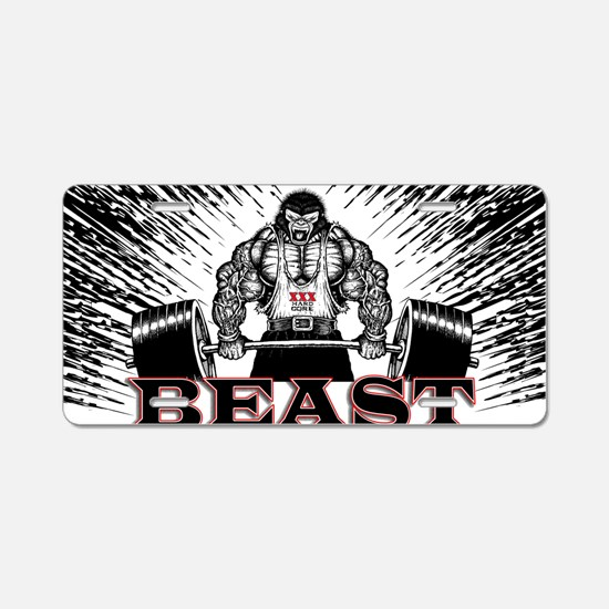 The Beast Poster Aluminum License Plate