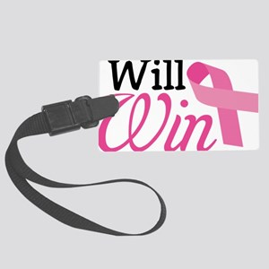 I Will Win Large Luggage Tag
