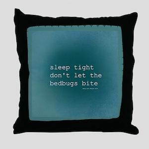 Bedbug Blue Throw Pillow