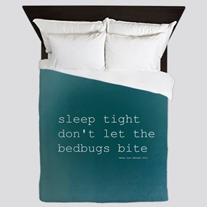 Bedbug Blue Queen Duvet