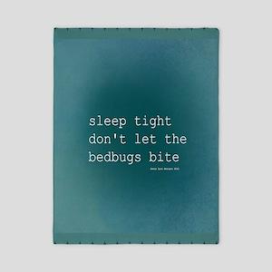 Bedbug Blue Twin Duvet
