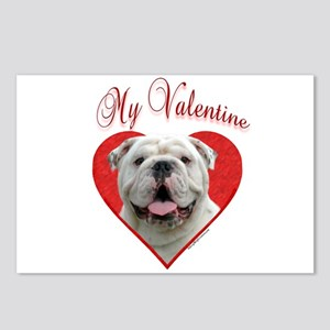 Bulldog Valentine Postcards (Package of 8)