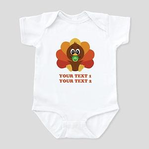 Personalize Baby Turkey Infant Bodysuit