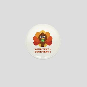 Personalize Baby Turkey Mini Button