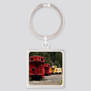 (15) caboose line Square Keychain