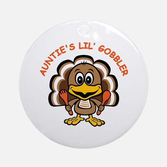 Auntie's Lil' Gobbler Ornament (Round)