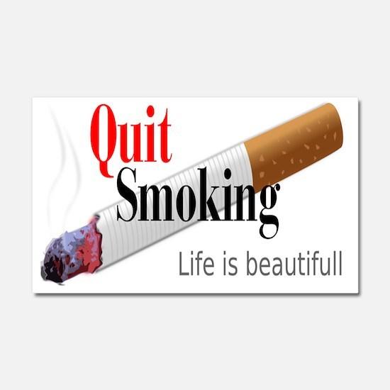 QUIT SMOKING Car Magnet 20 x 12