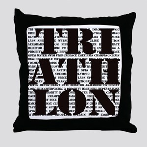 Triathlon1 Throw Pillow