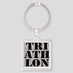 Triathlon1 Square Keychain