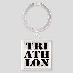 Triathlon1 Square Keychain