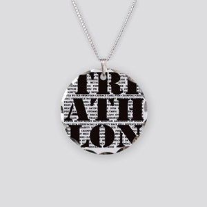 Triathlon1 Necklace Circle Charm