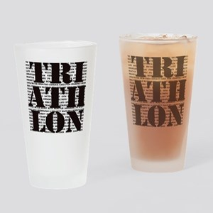 Triathlon1 Drinking Glass