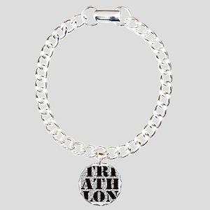 Triathlon1 Charm Bracelet, One Charm