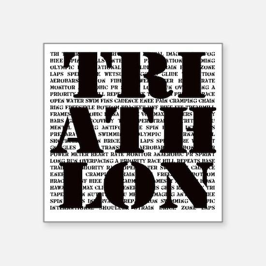 """Triathlon1 Square Sticker 3"""" x 3"""""""