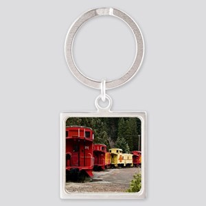 (14) caboose line Square Keychain