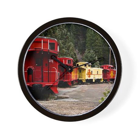 (14) caboose line Wall Clock