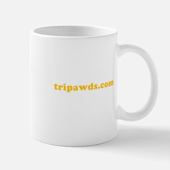 Be Pawsitive tripawds.com White BKG Mug