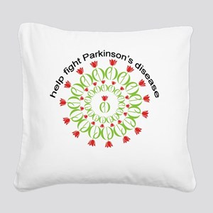 pd wreath help fight Square Canvas Pillow