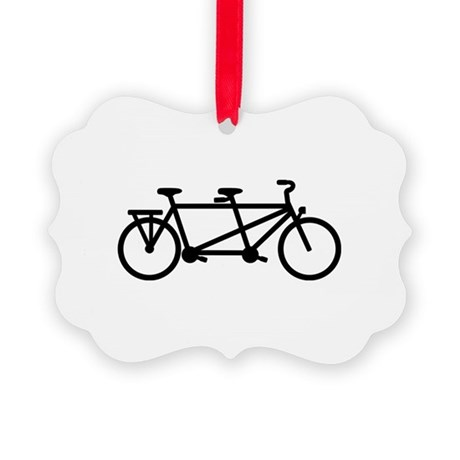 Tandem Bicycle Picture Ornament