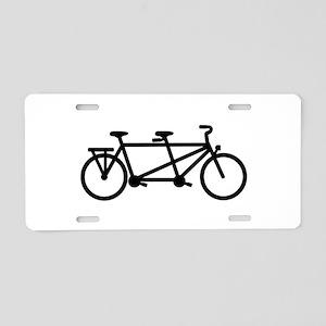 Tandem Bicycle Aluminum License Plate