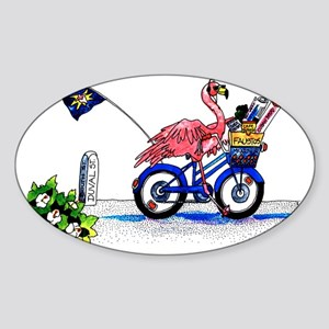 Key West Flamingo Sticker (Oval)