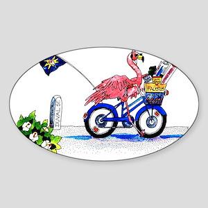 Key West Flamingo Sticker (Oval)