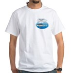 Amity Buffet Shark White T-Shirt