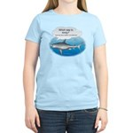 Amity Buffet Shark Women's Pink T-Shirt