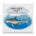 Amity Buffet Shark Tile Coaster
