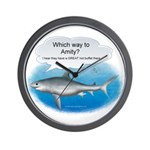 Amity Buffet Shark Wall Clock