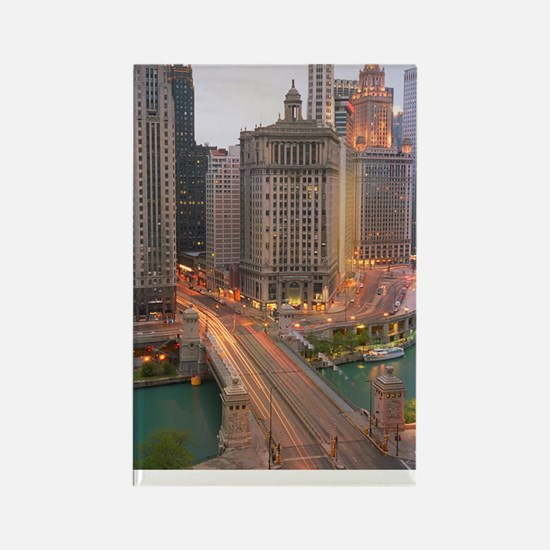 11x17-REV1-WACKER-AND-MICHIGAN Rectangle Magnet