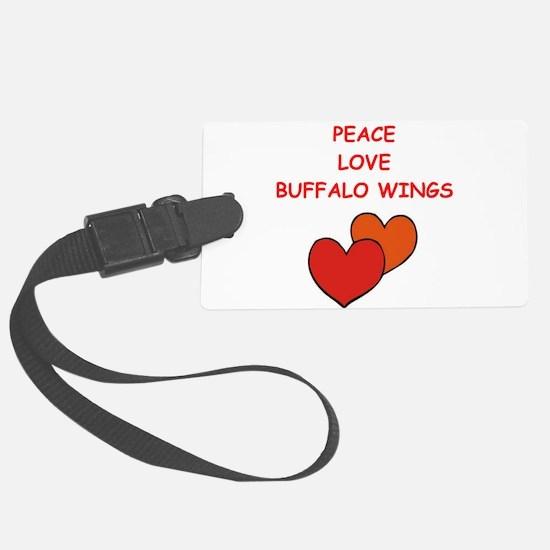 buffalo wings Luggage Tag