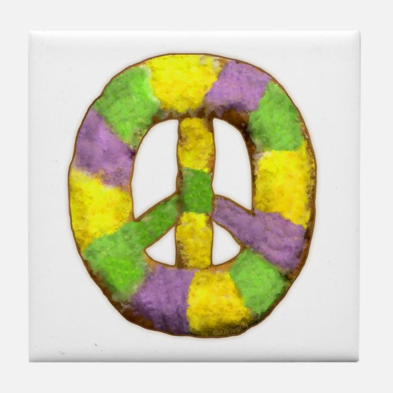 Peace of 'King' cake Tile Coaster