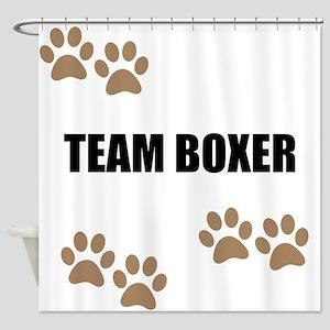 Team Boxer Shower Curtain