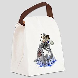 Jump the Shark Canvas Lunch Bag