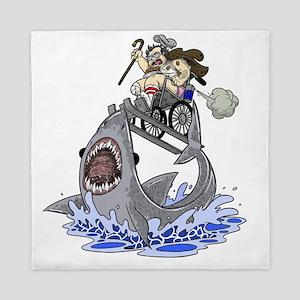 Jump the Shark Queen Duvet