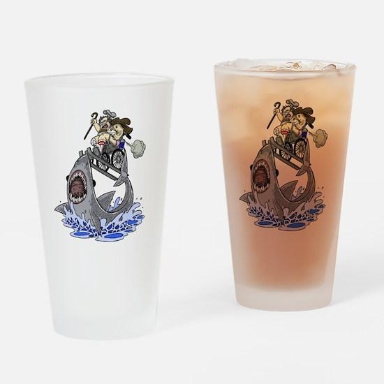 Jump the Shark Drinking Glass