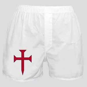 Cross Fichee - Red Boxer Shorts