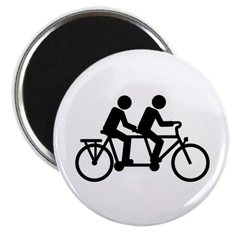 "Tandem Bicycle bike 2.25"" Magnet (100 pack)"