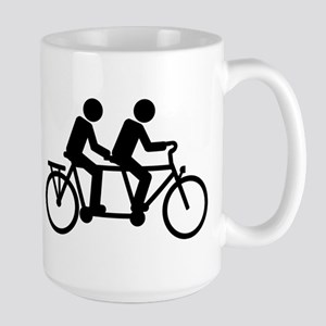 Tandem Bicycle bike Large Mug