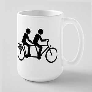 Tandem Bicycle bike Large Mug