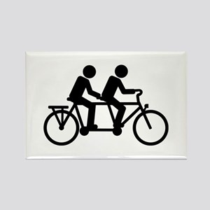 Tandem Bicycle bike Rectangle Magnet
