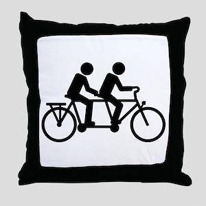 Tandem Bicycle bike Throw Pillow