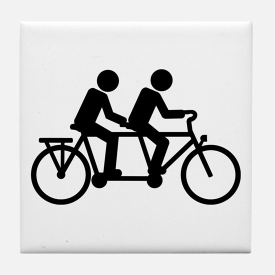 Tandem Bicycle bike Tile Coaster