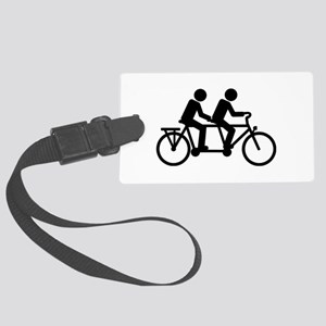 Tandem Bicycle bike Large Luggage Tag